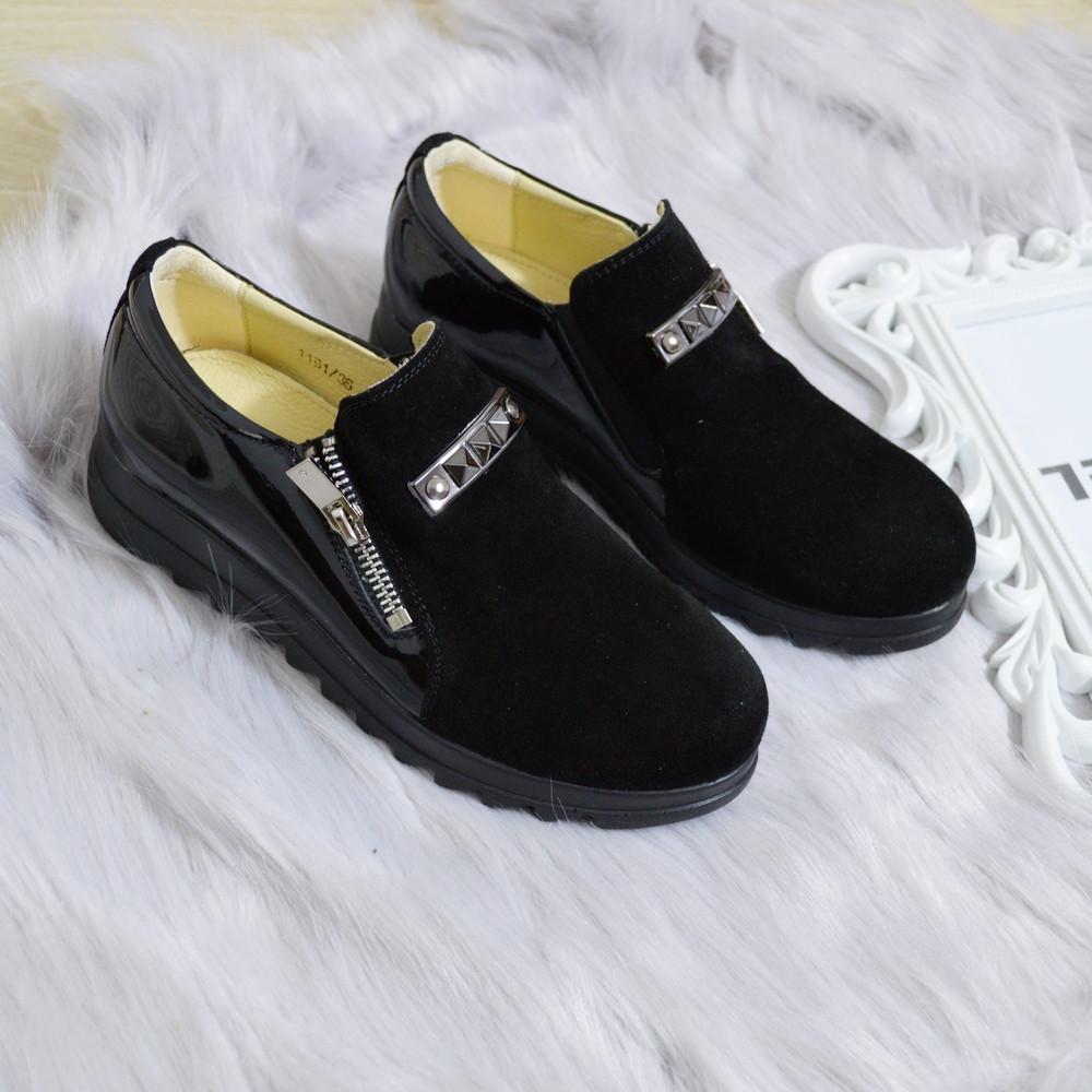 Туфлі жіночі чорні натуральні замшеві 36р