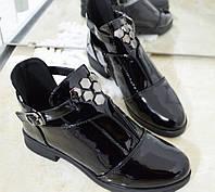 Черевики жіночі чорні лаковані, фото 1