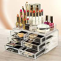 Органайзер для косметики настольный Cosmetic Organizer Makeup Container Storage Box 4 Draw