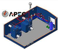 Блочно Модульная Котельная 900 кВт(Топливо пелета)