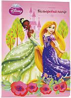 Бумага цветная неоновая(10лист/5цвет)А4 Принцессы P13-252K