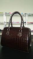 Шикарная сумка-классика шоколадного цвета