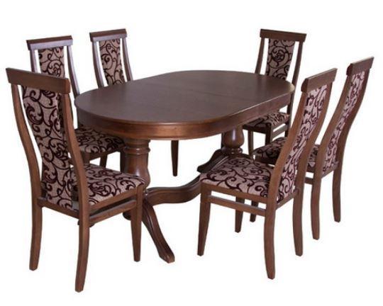 Комплект стол и стулья Лорето орех