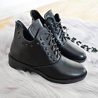 Черевики жіночі чорні., фото 1