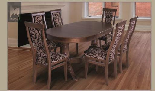 Комплект стол и стулья Лорето орех в интерьере