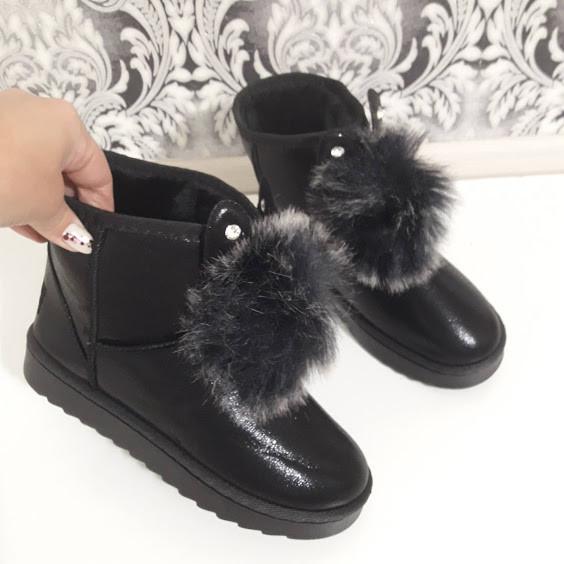 3e965e9886ccf4 Уггі жіночі чорні зимові з вушками. Тільки 38 розмір! - купить по ...