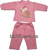 Детский костюм рост 74 (6-9 мес.) трикотаж розовый на девочку (комплект) для новорожденных ТН-157