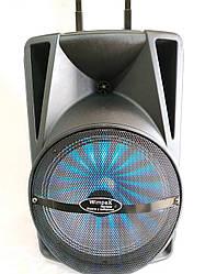 СуперМощная портативная колонка-чемодан 60Вт Wimpex + радиомикрофон+пульт WX-3078-12