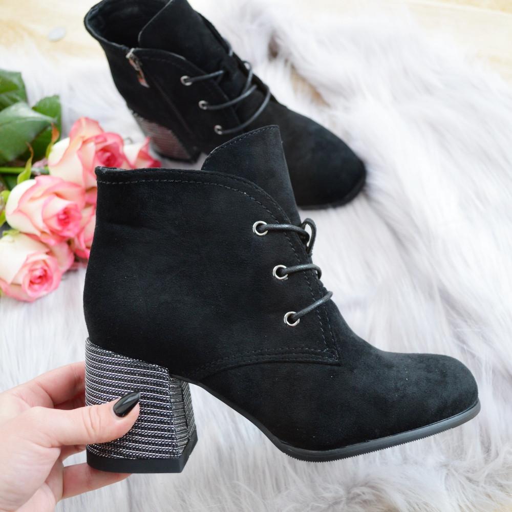 Черевики жіночі чорні на каблуку. Тільки 38 розмір!