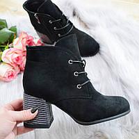Черевики жіночі чорні на каблуку. Тільки 38 розмір!, фото 1