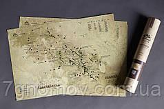 Скретч карта KULUAR Карпати в тубусі