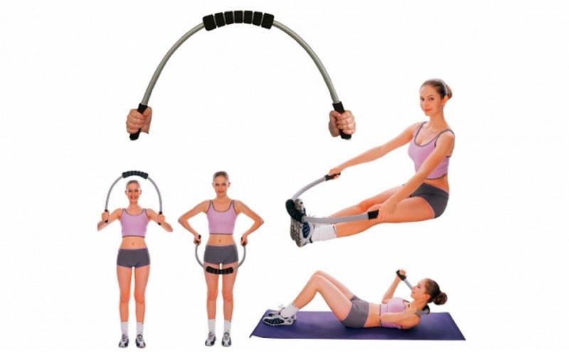 Гнучкий стержень для пілатесу та йоги Record PILATES BLADE R-580 (пластик, неопрен, l-122см)Z