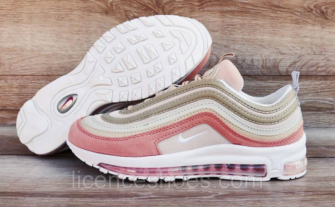 Подростковые, детские кроссовки Nike Air Max 97 Pink/Beige