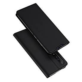 Чехол книжка для Xiaomi Mi 9 боковой с отсеком для визиток, DUX DUCIS, черный