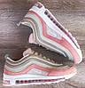 Подростковые, детские кроссовки Nike Air Max 97 Pink/Beige, фото 5