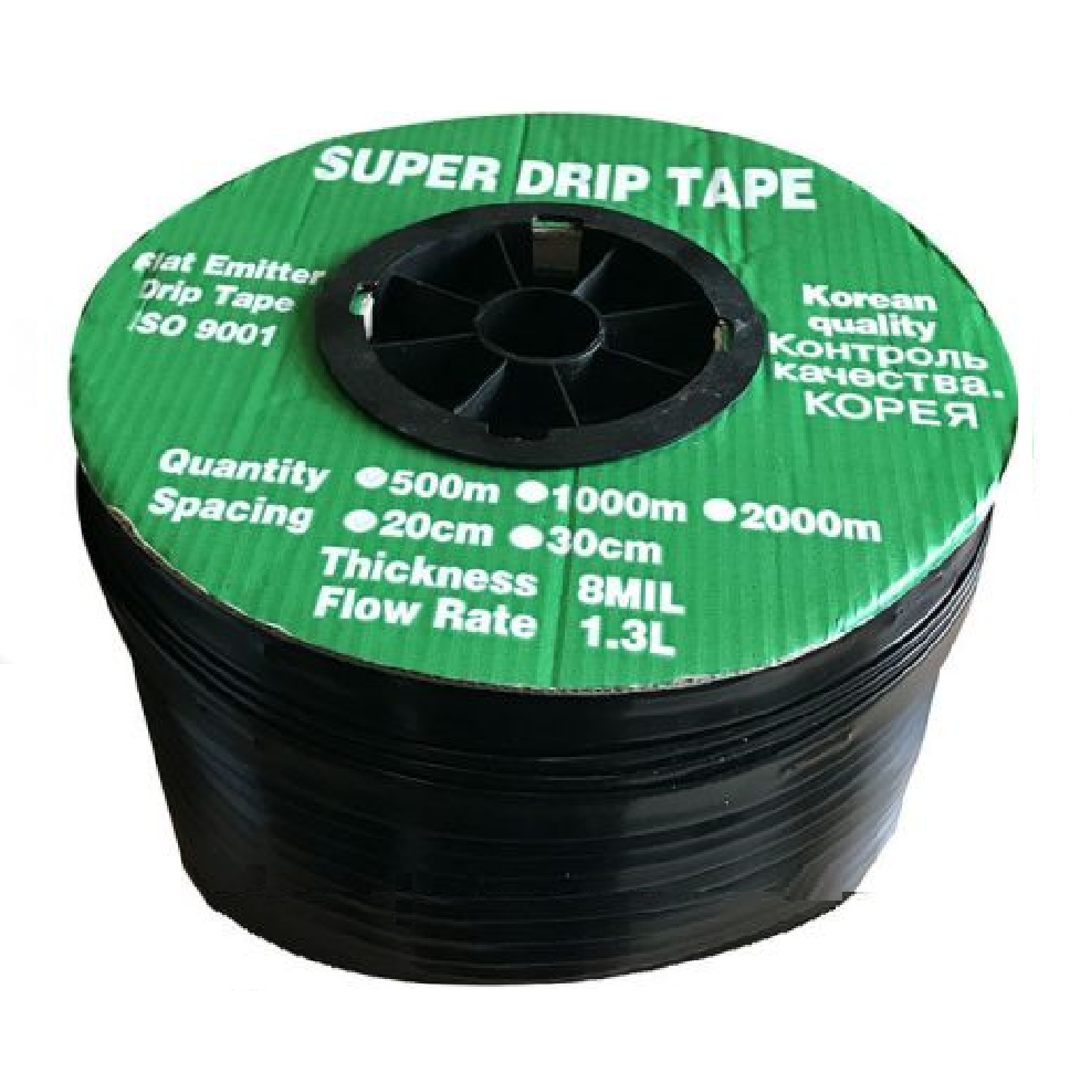 Капельная лента эмиттерная Super Drip Tape D16х0,20 шаг 20см 500м