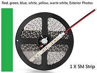 Светодиодная (LED) лента 60SMD(5050)12V 5м. Зеленый цвет