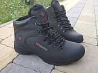 Кросівки шкіряні зимові чорні чоловічі., фото 1