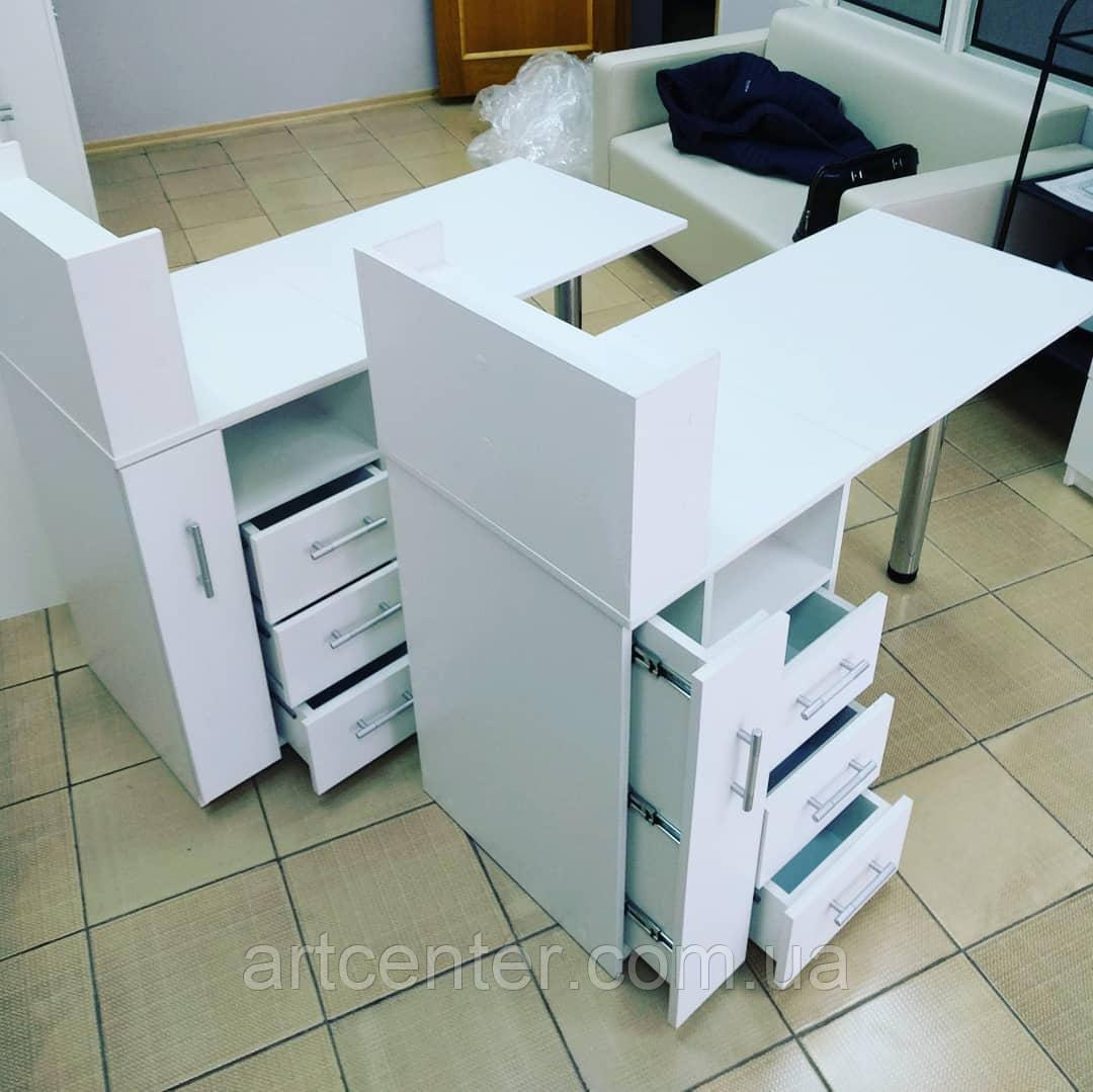 """Комфортный маникюрный стол с ящиком """"Карго"""""""