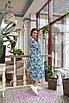 Приталенное платье длины миди цветочным узором, фото 5