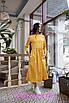 Приталенное платье длины миди цветочным узором, фото 3