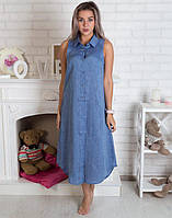 Сукня халат джинсова стильна розміри в наявності