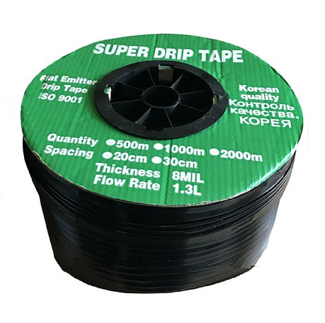 Крапельна стрічка эмиттерная Super Drip Tape D16х0,20 крок 20см 1000м, фото 2