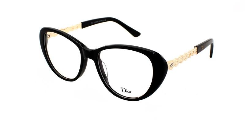 Модная оправа для женских очков Dior Black Tie