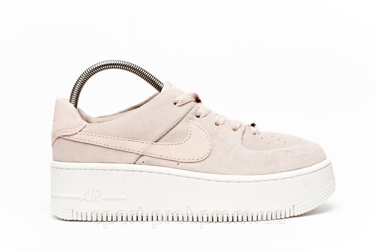 9b8fcce9 Женские кроссовки в стиле Nike Air Force 1 Sage Low Pink (Топ качество)