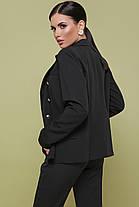 Деловой пиджак женский 2019 с двумя рядами пуговиц красный черный размер 50, фото 3