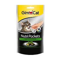 GimCat Nutri Pockets with Catnip and Multi-Vitamin лакомство для кошек с кошачьей мятой и комп. витаминов, 60г