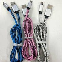 Шнур microUSB-USB M16 плетёная ткань