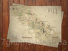 Скретч карта KULUAR Карпати NEW в тубусі