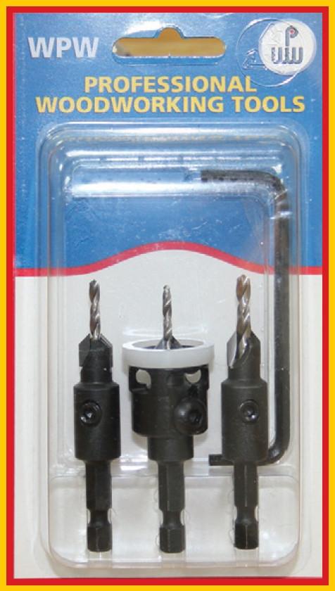 Комбинированный комплект зенковок с шестигранным хвостовиком D2,5÷4/9,5
