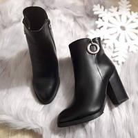 Черевики жіночі чорні зимові на каблуку. Тільки 36,37,40 розмір!