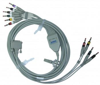 Кабель на 10 электродов на электрокардиографы АТ-1, АТ-101, АТ-2, AT‑102, АТ-10,  АТ-2, АТ-2plus, AT-6, АТ-10p