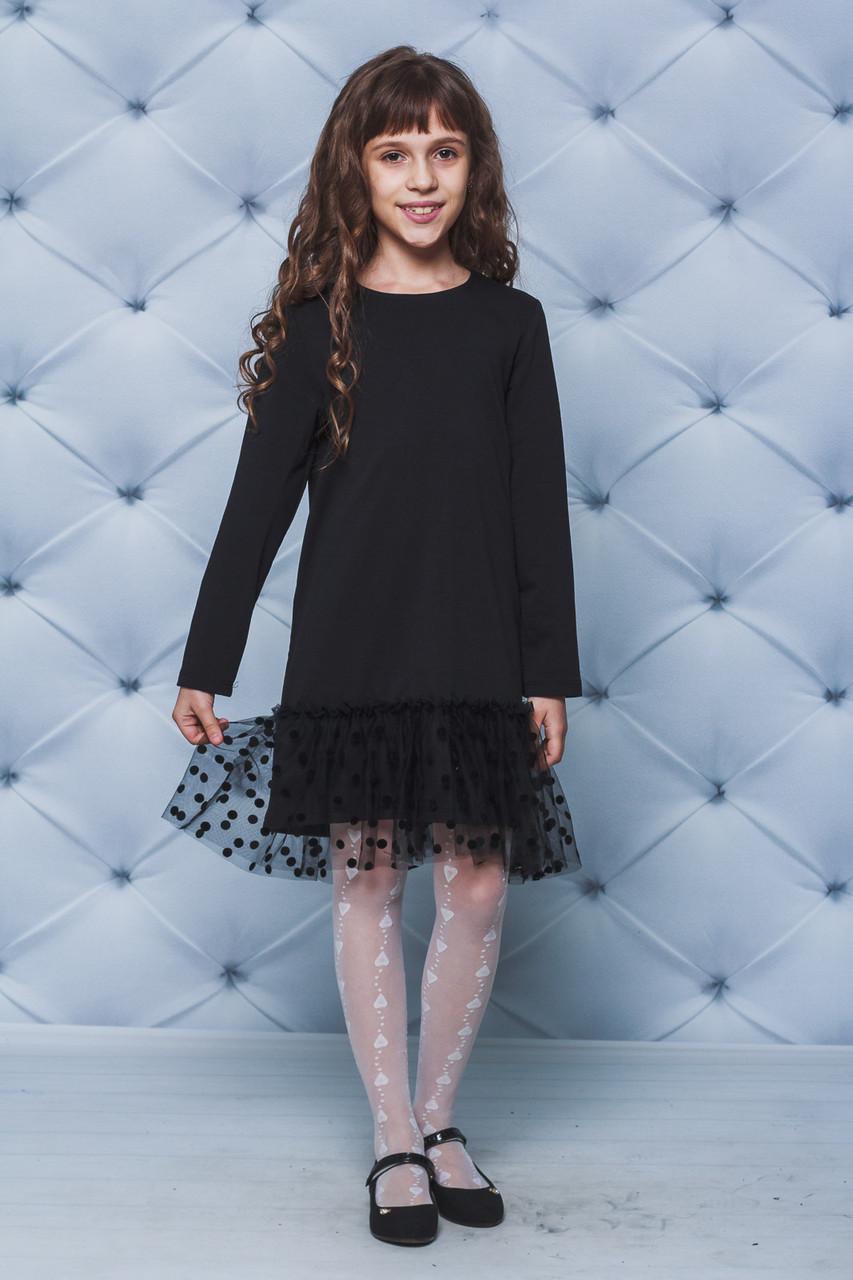 трикотажное платье для девочки фото