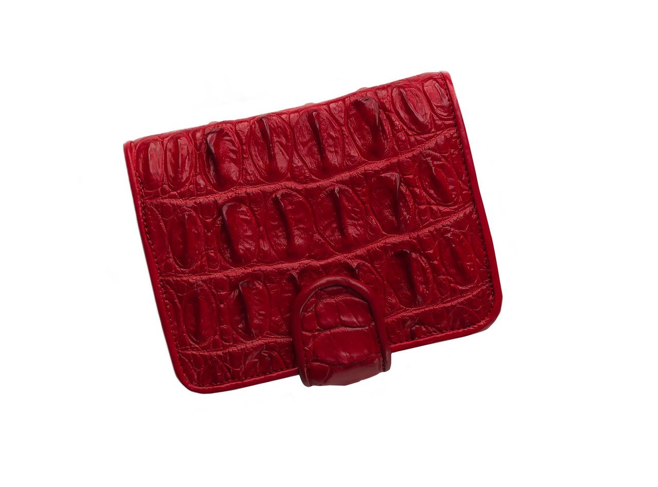 Кошелек из кожи крокодила Ekzotic Leather Красный (cw 101)