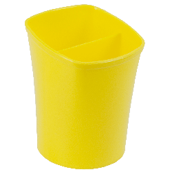 Стакан для письмового приладдя KVADRIK, квадратний, на 2 відділення Жовтий
