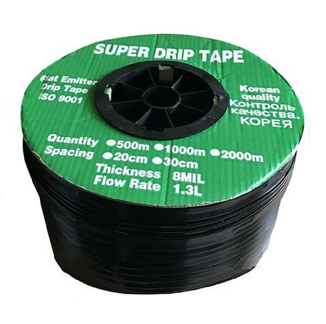 Крапельна стрічка щілинна Super Drip Tape D16х0,20 крок 10см 1000м, фото 2