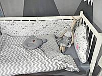 Плоские бортики на три строны кроватки 120*60см