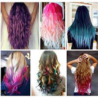 Цветные мелки пудра для волос HOT HUEZ