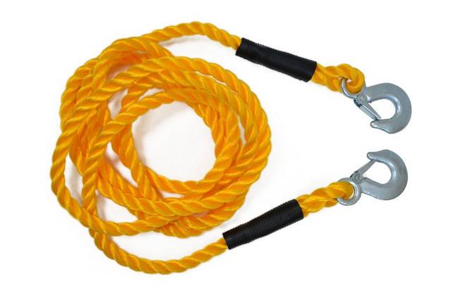 Трос буксирний Technics плетений 2500 кг 4 м (52-389), фото 2
