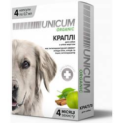 Краплі Unicum organic Унікум органік для собак від бліх та кліщів на холку
