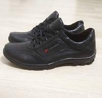 Кросівки чоловічі шкіряні чорні. Тільки 40,41,42,44,45 розмір! 41р