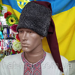 Козацька шапка з сірого смушку