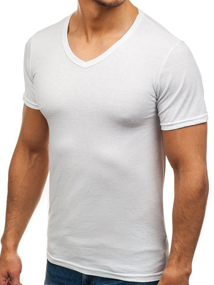 Мужская  футболка джерси V-вырез размер S