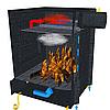 Печь-камин Экожар Комфорт Плюс с камерой дожига вторичных газов, фото 3