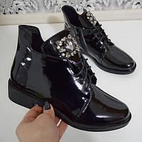 Черевики жіночі чорні. Тільки 40 розмір!