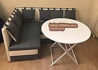Круглый складной стол белого цвета 100х78 см, фото 1